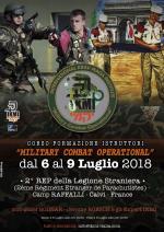 6-9 Luglio 2018 - Corso Istruttori Military Combat Operational - 2° REP Legione Staniera - Calvi