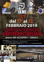 Dal 17 al 22 Febbraio 2019 - Corso Tecniche Anti-terrorismo - Israele