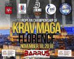 18 Novembre 2018 - Campionato Europeo di Technical Krav Maga - Firenze