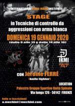 19 Gennaio 2020 - Stage Tecniche di Controllo Knife con Jerome Ferre - Firenze