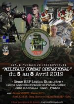 Dal 5 all'8 Aprile 2019 - 2 REP Legione Straniera - Corso Formazione Istruttori MCO - Calvi - Corsica