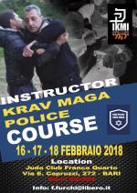 16-17-18 Febbraio 2018 Corso Istruttori Krav Maga Police - Bari