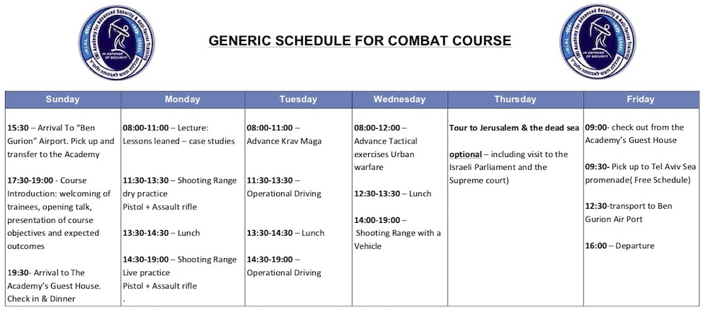 imi combat course program