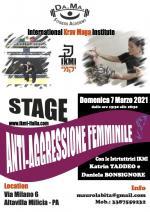 7 Marzo 2021  Stage Antiaggressione Femminile - Palermo