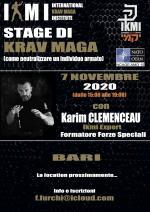 7 Novembre 2020  Stage di Krav Maga  Bari