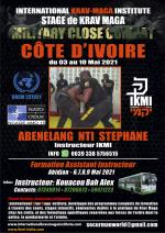 3-10 Mai 2021 Stage Close Combat Formation Instructeurs Côte d'Ivoire