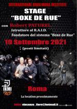19 Settembre 2021  Stage Boxe de Rue con R. Paturel - Roma